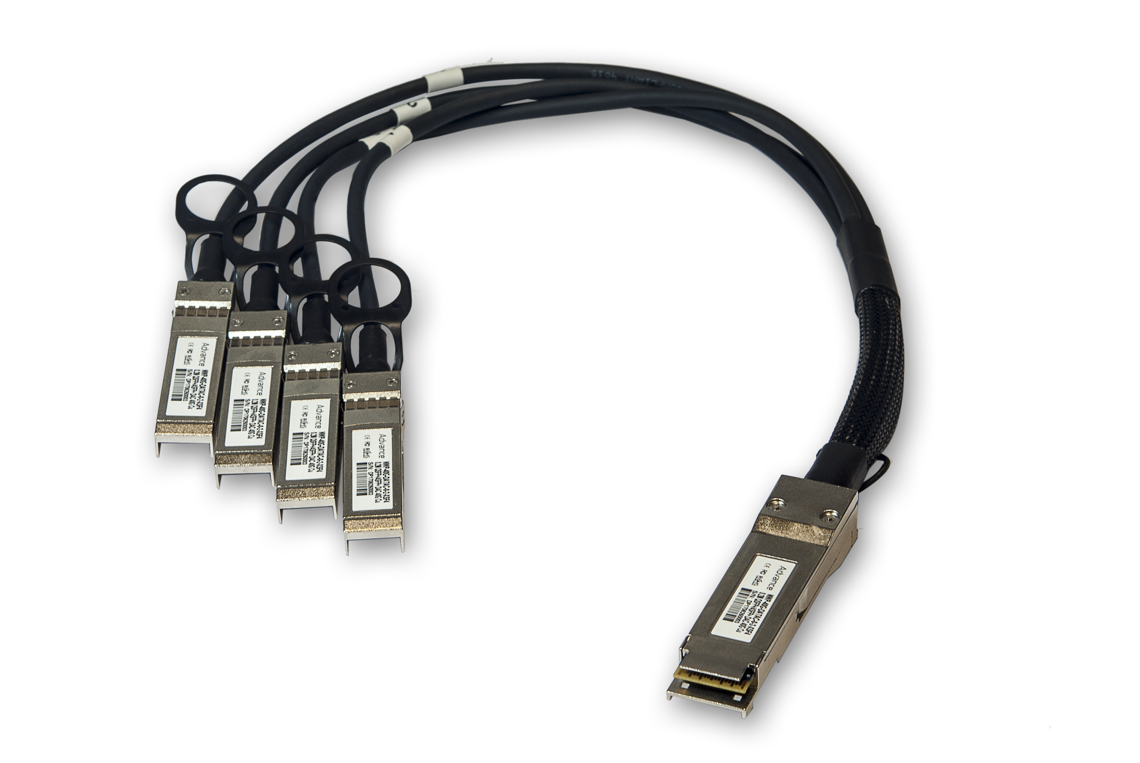 DAC Cable to 4x10G SFP 1m CAB-Q-S-1M Arista Networks Compatible 40Gb QSFP
